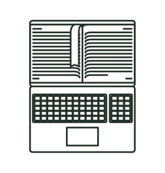 Isolated book and laptop design vector
