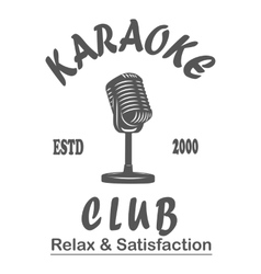 Karaoke club microphone retro song vector image