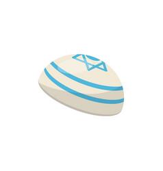kippah yarmulke jewish headwear vector image