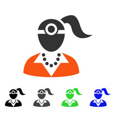 lady vision doctor flat icon vector image