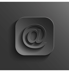 Mail icon - black app button vector image