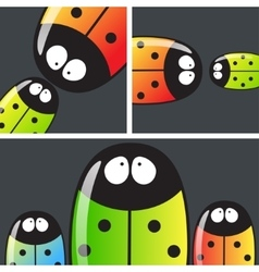 Many beetles with text vector
