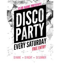 Night dance disco party design template vector