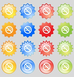 No smoking icon sign Big set of 16 colorful modern vector