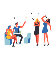 party people drinking and singing song isolated vector image