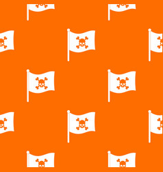 pirate flag pattern seamless vector image