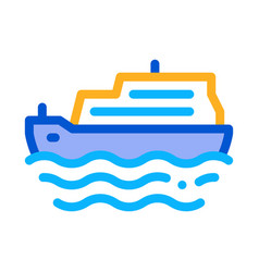pleasure boat icon outline vector image