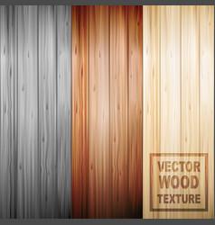 realistic brown wooden parquet floor texture set vector image