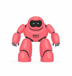 Red robot vector