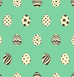 retro easter seamless pattern with eggs vector image
