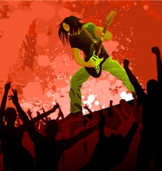 rocker vector image
