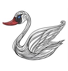 Sad swan vector