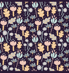 Seamless flower pattern with cutout florals vector