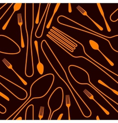 seamless silverware background vector image