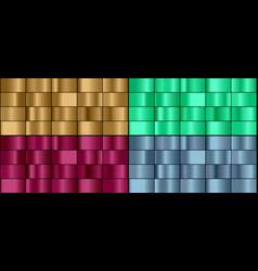 set colorful metal gradients vector image