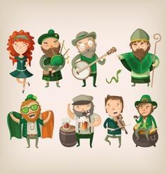 set irish characters vector image