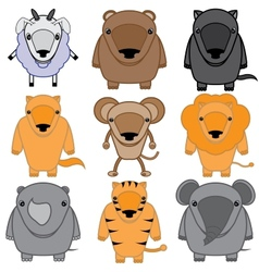 set of baby animals cartoon vector image