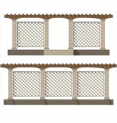 Set of pergola vector image