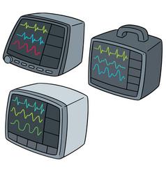 Set of vital sign monitor vector