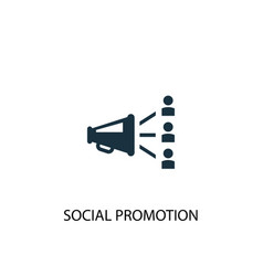 Social promotion icon simple element vector