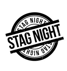 Stag night rubber stamp vector