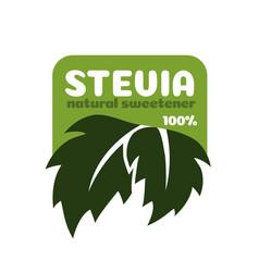 stevia leaves symbol natural organic vector image