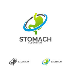 Stomach logo template design stomach care logo vector