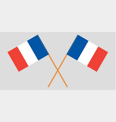 The crossed france flags vector