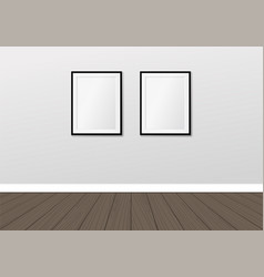 two frames on wall interior mock up vector image