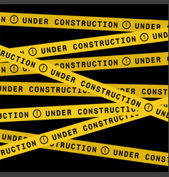 Under construction ribbons vector