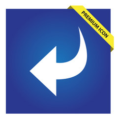 Undo icon for web and mobile vector