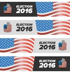 United States Election Vote banners vector