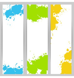 Vertical banners with paint splash vector image