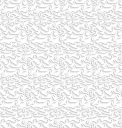 White curved lines seamless pattern vector