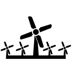 wind mill icon - wind power symbol vector image