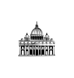World attractions st peter cathedral in rome vector