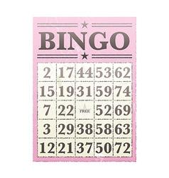 bingo card vector image