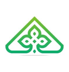 design element company letter symbol plant vector image vector image