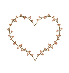 Fresh Flower Buds in A Heart Shape vector image vector image