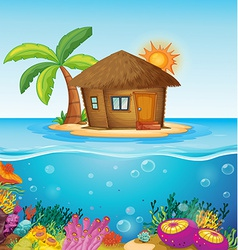 House on desert island vector image vector image