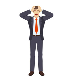shocked businessman vector image vector image