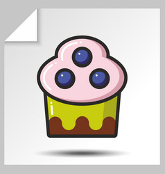 cakes muffins sweets icons 9 vector image vector image