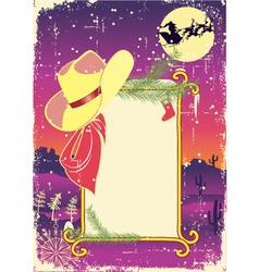 Cowboy christmas vector