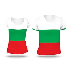 Flag shirt design of Bulgaria vector image vector image