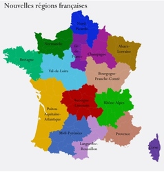 New French regions vector image vector image