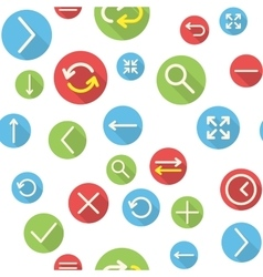 Seamless pattern with icons vector