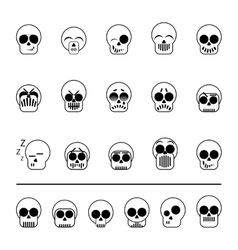 set of icons skull vector image