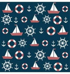 background with anchors and boats vector image