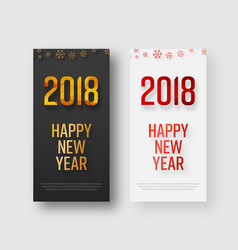 template of vertical banners happy new year 2018 vector image vector image