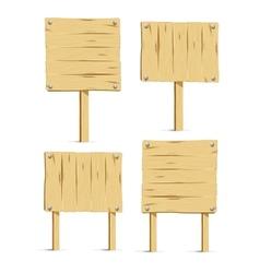 wooden signboards vector image